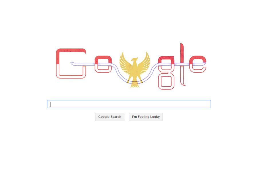 logo google hari kemerdekaan indonesia