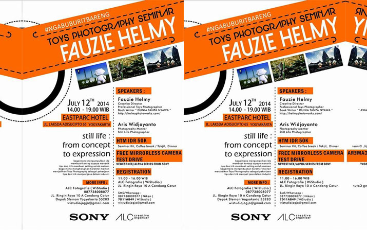 Toys Photography Seminar by Fauzie Helmy