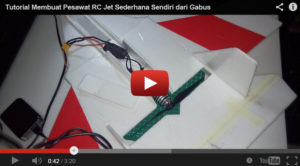Video Tutorial Membuat Pesawat RC Jet dari Gabus
