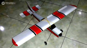 Mini Cessna Pesawat RC Gabus Homemade