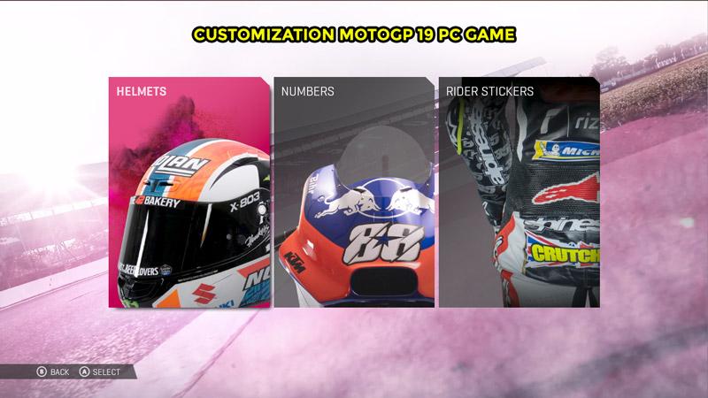 Customization MotoGP 19 PC Game